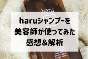 【リニューアル版】haru黒髪スカルプシャンプーを使ってみた!白髪予防&育毛効果は?